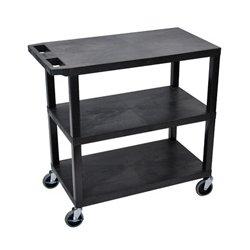 Luxor / H Wilson - EA34-B - Luxor EA34-B 34-Inch 3-Shelf Portable Flat Presentation Station - Black