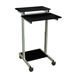 Luxor / H Wilson - STANDUP-24-B - Luxor STANDUP-24-B 24-Inch Black Adjustable Standing Presentation Roll Station