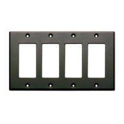 Radio Design Labs (RDL) - CP4B - RDL Quadruple Cover Plate - black
