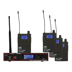 Galaxy Audio - AS-1100-4 CODE D - AS-1100-4 Four person Wireless Monitor System Code D 584-607 MHz