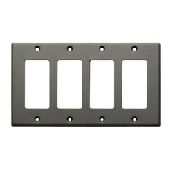 Radio Design Labs (RDL) - CP-4G - CP-4G Single Cover Wall Plate (Gray)