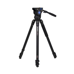 Benro Precision Photography - BNRO-A373FBV4H - A373FBV4H BV4 75mm Video Tripod Kit -Aluminum