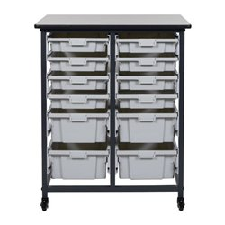 Luxor / H Wilson - MBS-DR-8S4L - Luxor MBS-DR-8S4L Mobile Bin Storage Unit - Double Row - Small Bins