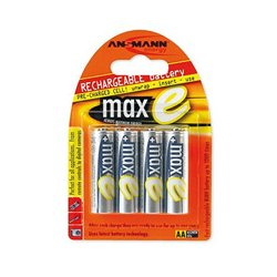 Ansmann Energy / Horizon Group - 5,035,052.00 - Ansmann MAX-E AA 2100mAh Rechargeable NiMH Batteries (4-Pack)
