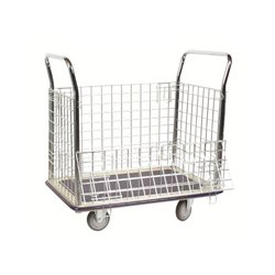 Wesco Industrial - 270,456.00 - Wesco 270456 Wire Caged Platform Production Truck/Cart - 23 Inch x 35 Inch