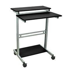 Luxor / H Wilson - STANDUP-31.5-B - Luxor STANDUP-31.5-B 31.5-Inch Black Adjustable Standing Roll Workstation