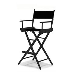 Telescope Casual Furniture - 1570 / 3REC-5C - Tall Directors Chair - Black Frame / Black Canvas
