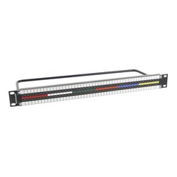 Switchcraft - MMVP48K175T - MMVP DIN 1.0/2.3 Patchbay 2x48 Normalled & Terminated - 1RU