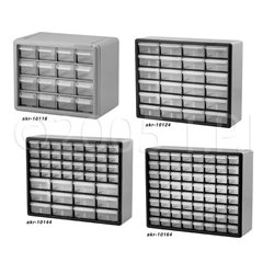 Akro-Mils / Myers Industries - AKR-10164 - 10164 64 Drawer Plastic Frame Connector & Fastener Storage Cabinet