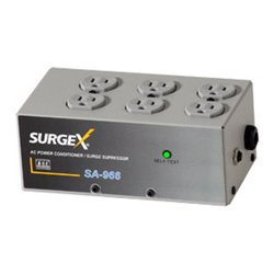 SurgeX - SA-966 - SurgeX SA966 Surge Protector & Power Conditioner - AC Surge, Overload, Over Voltage protection - AC Power - 120 V AC Input
