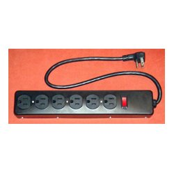 AVB Cable - AVB-LTS-6E - AVB LTS-6E 6 Outlet Metal Power Strip with Short Cord - Black