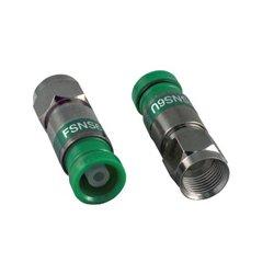 ICM - FSNS6U - ICM RG6/6 Quad F Compression Connector Nickel Green - 25pk Snap-n-Seal