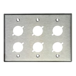 TecNec - WP3/6X - Wallplate With 6 D Series Cutouts