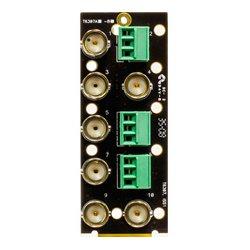 Ward-Beck Systems - T6307A - Ward-Beck Single Card 7 BNC/3 3-Pin Terminal Block Rear Module
