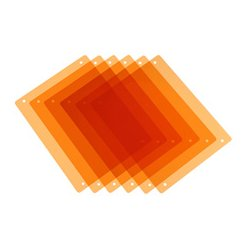 PAG Broadcast Equipment - PAG-9981 - PAG 9981 Paglight Half CT Orange Filters x 6