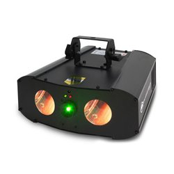 American DJ - GALAXIAN GEM IR - 2-FX-IN-1: LED Dual Lens Moonflower & Galaxian Style Effect