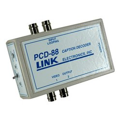 Link Electronics - PCD-88 - Link Electronics Portable Closed Caption Decoder w/Power Supply