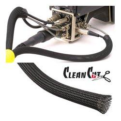 Techflex - CCP0.25BK 100FT - 5/32 to 7/16 Flexo Clean Cut Tubing 100ft Spool