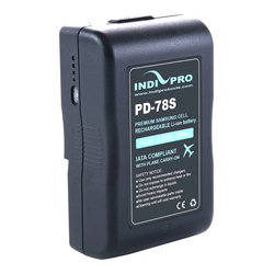 IndiPro Tools - PD78S - Compact 78Wh V-Mount Li-Ion Battery