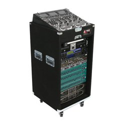 Odyssey Cases - CXP1118W - Odyssey Pro 11 Space x 18 Space Combo Rack with Wheels