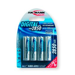 Ansmann Energy / Horizon Group - 5,035,092.00 - Ansmann 5035092 Mignon Ni-Mh AA 2850mAh Digital Rechargeable Battery - Pack of 4
