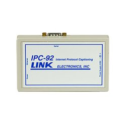 Link Electronics - IPC-92 - Link Electronics Ethernet to Serial Converter IP Caption Connection