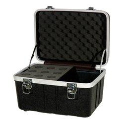 Grundorf - ABS-MC09C - Grundorf Microphone Case - Holds 9 Mics w/ Storage Compartment