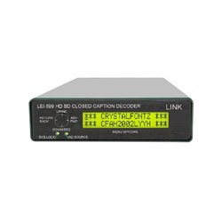 Link Electronics - LEI-599D - Link Electronics LEI-599 HD SD Caption Decoder