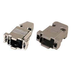 Connectronics - 9H - 15-Pin High Density and 9-Pin D-Sub Connector Hood - Metal