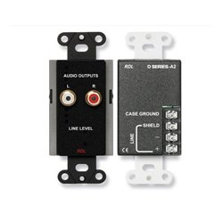 Radio Design Labs (RDL) - DB-A2 - Line Output Assembly - RCA jacks, Terminal block - black