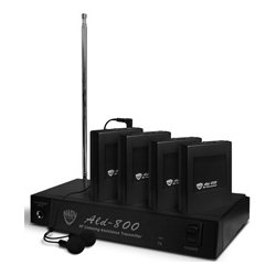 Nady System - ALD-800-AA - Nady ALD-800 4-Person Multi Channel RF Assistive Listening System 72.1 MHz