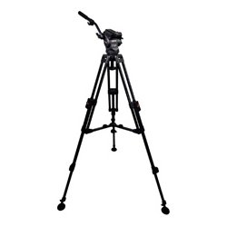 Cartoni - KM40-1AG - KM40-1AG Master 40 Head Dovetail Plate 2 Pan Bars 1 Stage Alm. Studio Tripod Spreader