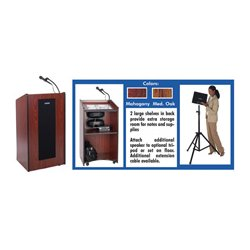 AmpliVox - S450-OK - Amplivox Presidential Plus Lectern (Medium Oak)