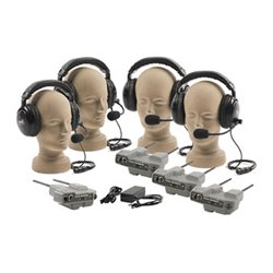 Anchor Audio - PRO-540 DUAL - Pro-540 Pro-Link 500 4 Dual Headset Wireless Intercom System