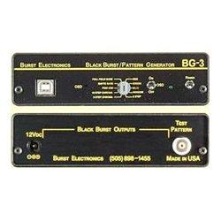 Burst Electronics - BG-3UNB - Pattern Generator w/Color OSD/ID NTSC/PAL- Unbalanced Audio RCA