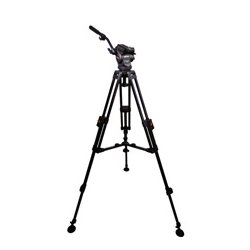 Cartoni - KF08-2AM - KF08-2AM Focus 8 with Long Style Sliding Plate/75mm 2-Stage Aluminum Tripod/ML Spreader/Pan Bar & Soft Case