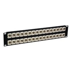 Laird Telemedia - 32XBNCR-CAN - Laird 4K 12G-SDI Feed Through Recessed BNC Patch Panel - 32 Point x 2RU
