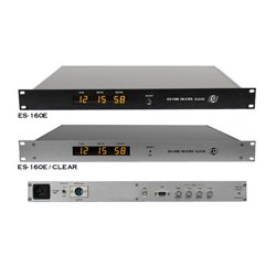 ESE - ES 160E/CLEAR - ES-160E/CLEAR Master Clock with One Second per Month Accuracy - 1 3/4 Inch Rack Mount - Clear Anodized