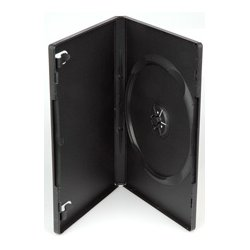 Other - DVD-SCB1 - Black Plastic Single DVD Album Case With Full Outer Sleeve