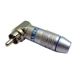 Calrad - 30-250-BK - Solder Type Right Angle Reduced Profile RCA Plug - Black and Silver