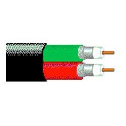 Belden / CDT - 1694D 010500 - 1694D 18 AWG Dual RG-6/U Serial Digital Coax - Black - 500 Foot Roll