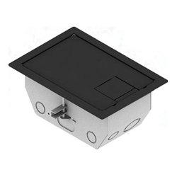 FSR - RFL4.5-D1G-SLBLK - 4.5 Inch Deep Back Box with 2 - 1 Gang Plates - Black Trim