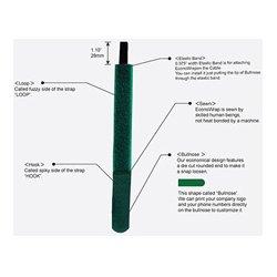 Rip-Tie - M-07-EEM-BK - EconoWrap w/Elastic Band 3/4 x 7 in. 200-Pack Black