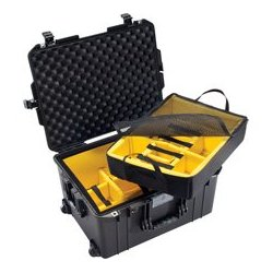 Pelican - 016070-0040-110 - Pelican 1607 Air Case with Logo and Padded Dividers - Black