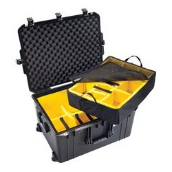 Pelican - 016370-0040-110 - Pelican 1637 Air Case with Logo and Padded Dividers - Black
