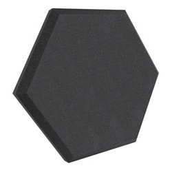 Ultimate Support Systems - UA-HX-12BK - Ultimate Acoustics Hex Series - Hexagon Foam Wall Panel - 12-Inch - Black Vinyl - Class B - Pair