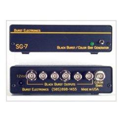 Burst Electronics - SG-7-TONE-BL - Burst 6 Black Burst Out 1 SMPTE Bars Out -With Bal Audio