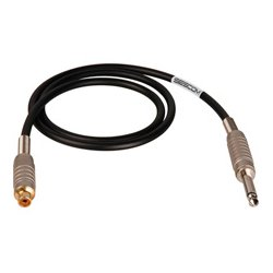 Sescom - SC1.5SRJBN - Canare Star-Quad Cable 1/4-Inch TS Male to RCA Female 1.5 Foot - Brown