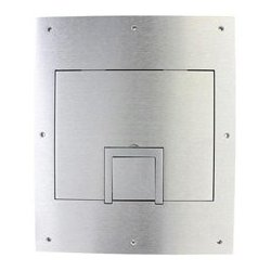 FSR - FL-500P-SLD-ALMC BSTK - FL-500P-SLD-ALM-C Solid Cover with Cable Exit (No Trim) Aluminum for Floor Pocket - B-Stock (Used - Cosmetic Only)