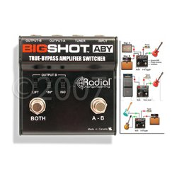 Radial Engineering - RAD-BSHOTABY - Radial BigShot ABY True Bypass Switcher
